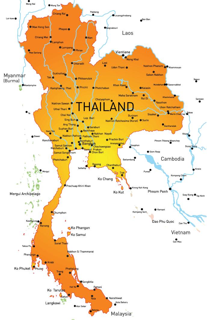 Thailandmapwithdetails