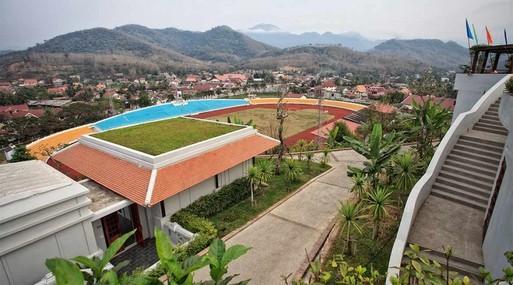 Thailand.Mekong-Cruise.Luang-Prabang-view-hotel.view-from-the-top